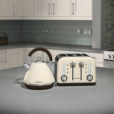 Morphy Richards Accents Kettle & Toaster Set In Sand Cream Matte 102101 / 242101