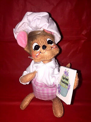 """Annalee Easter Spring Chef Mouse 6"""" New 2017 Regular Eyes 201217"""