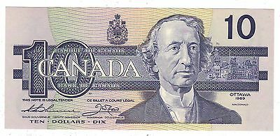 Canada 1989 $10 Banknote Thiessen-Crow ATP