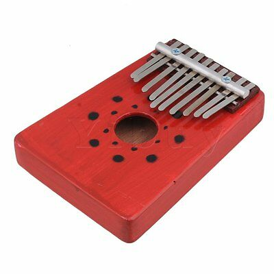 170 x 125 x 43mm 10-key Finger Piano Thumb Piano Musical Instrument Red