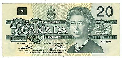 Canada 1991 $20 Banknote Thiessen-Crow AIX Replacement