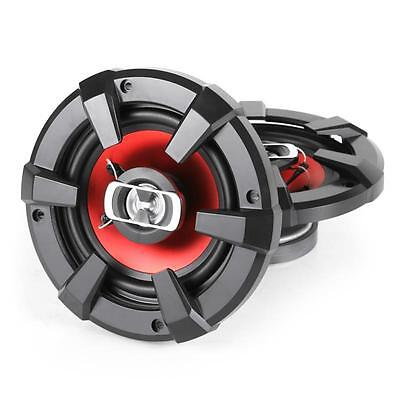 """6"""" Car Speakers 1200 W Auna 3-Way Coaxial Custom Stereo Audio + 2 Covers Red"""