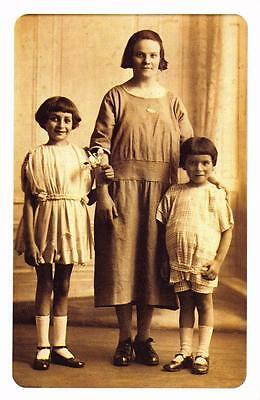 Postcard Nostalgia c1920's Fashion Mother and Children Reproduction Card