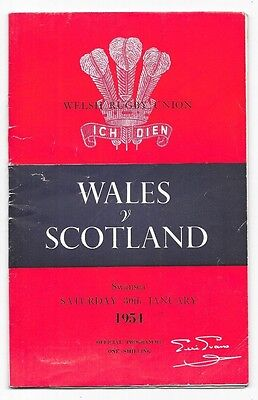 1954 - Wales v Scotland, Five Nations Match Programme (with insert).