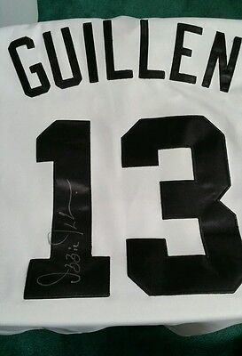 Ozzie Guillen Autographed Jersey Done At The 670 Score Sports Radio