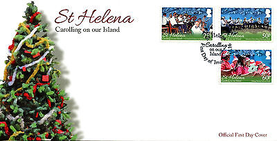 St Helena 2016 FDC Carolling on Our Island 3v Set Cover Christmas Stamps