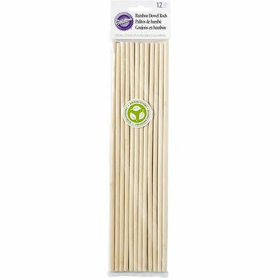 Wilton Cake Dowel Rods Bamboo Pillars 12 Pieces 12 in. Wedding Party Decoration