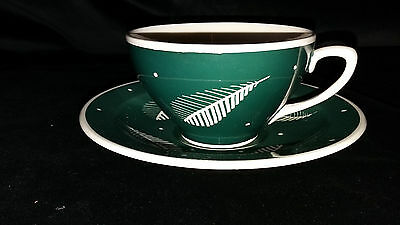 Susie Cooper Green Feather Cup and Saucer.
