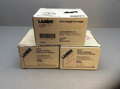 Lanier SC55 Staple Cartridge Part 117-0189 Konica Minolta Lot of 3