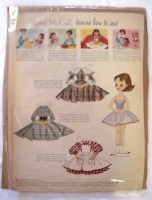 "Betsy McCall paper doll - Betsy McCall ""Learns How to Sew""- September 1957"