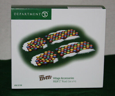 "NIB Dept. 56 ""M&M's 4 Piece M&M Road"" Intro. 2004, Ret'd. 2006, NEVER Displayed"