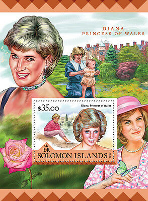 Solomon Islands 2016 MNH Lady Diana Princess of Wales 1v S/S Royalty Stamps