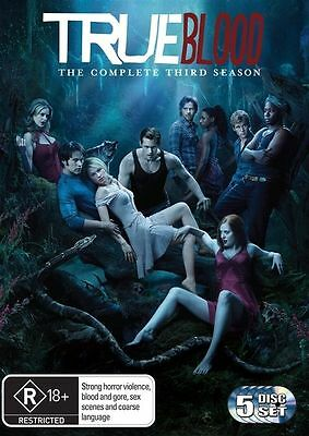 True Blood : The Complete Season 3 (DVD, 2011, 5-Disc Set) Brand new sealed R1