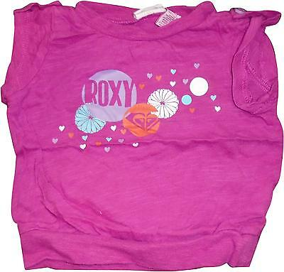 USED Girls Roxy Purple Decal Top Size 12 Months (CH.E)