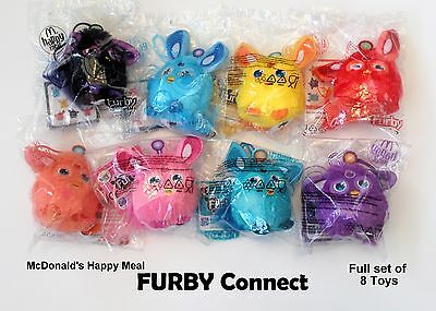 McDONALD'S 'FURBY CONNECT' 2016 UK complete set of 8 Toys new in original bags