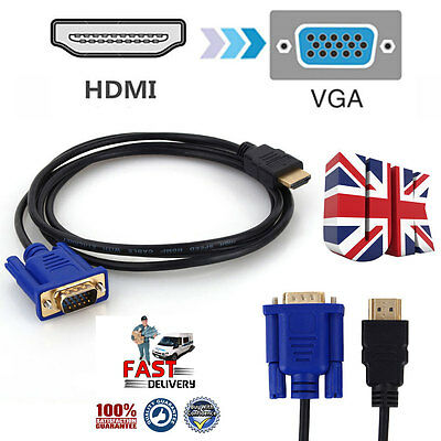 1080P HDMI Male to VGA Female Video Converter Adapter Cable for PC DVD HDTV