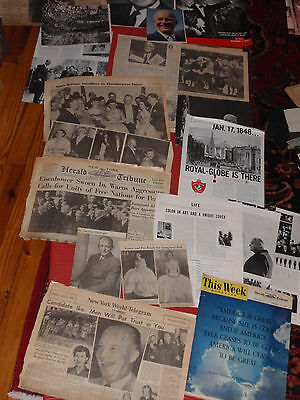 A Lot Of Vintage Newspapers, Clippings & Articles Pres. Dwight D. Eisenhower Ike