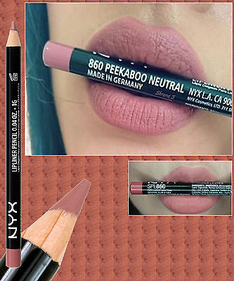 Nyx Slim Lip Pencil Liner ~ Peekaboo Neutral ~ Natural Brown Pink ~ Spl860