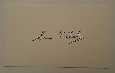 Sam Pollock Montreal Canadiens Signed Autographed 3X5 Index Card, Jsa/coa