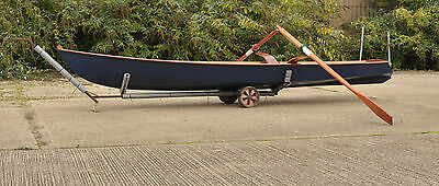 skiff rowing boat single sculls sliding seat Snipefish Ian Oughtred