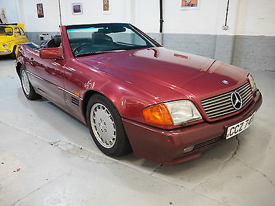 1990 Mercedes 300 SL 24v,Auto Hard top R129 Amandine Red with Black leather