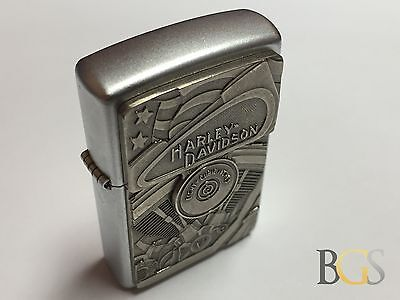 Incredible HARLEY-DAVIDSON Thick & Heavy Authentic Zippo Lighter - A 2002 Model