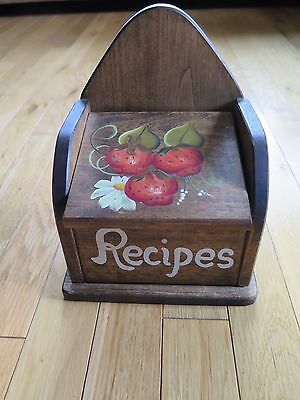 Country Style Wooden Recipe Box