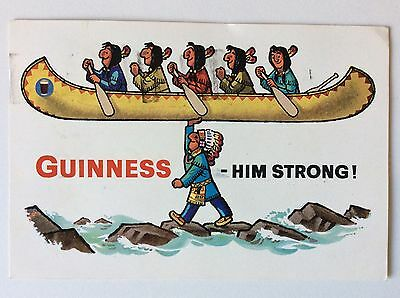 vintage postcard, Guinness, Him Strong, advertising card, 1962