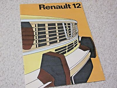 1971 Renault 12 Sales Brochure..