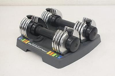 Reebok Speed Pac 25 Pound Adjustable Weight Dumbbells Satisfaction Guaranteed