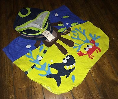 New Boys Smart Swim Towel Poncho Swimwear Age 12-18 18-24 Months £13