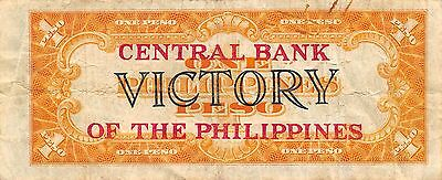 Philippines Central Bank Issue 1 Peso ND.1949  P 117a   Circulated Banknote