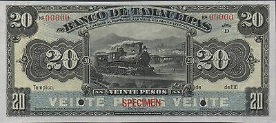 Mexico / Tamaulipas  20 Pesos  S 431s Series D  5190X  Uncirculated  Banknote