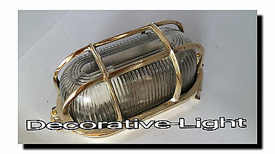 Marine Nautical Light Brass ship Wall & Celling Oval Passage Light 1 pc