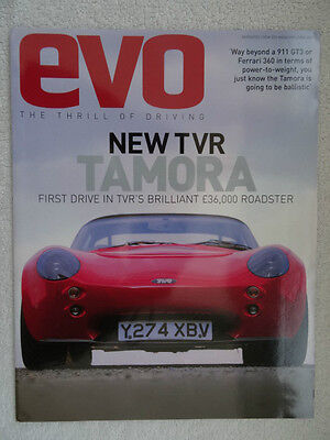 TVR Tamora Road Test 2001 reprint from EVO Magazine issued by TVR