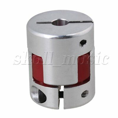 Metal 6.35 x 8mm CNC Plum Shaft Coupler 30mm Length Electrical Insulation