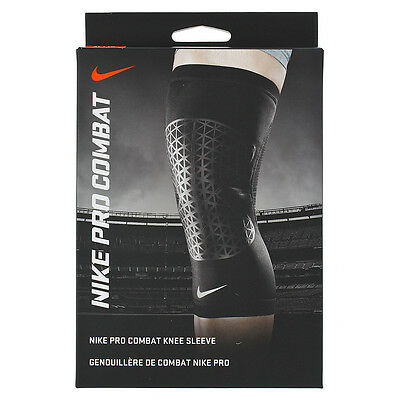 Nike Pro Combat Knee Sleeve XL Black Single Left or Right Support Injury NEW