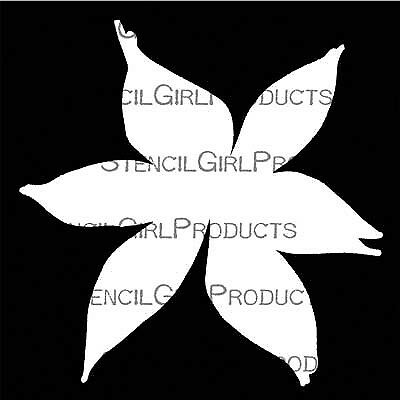 "Stencil Girl, Deconstructed single lily mask,Traci Bautista, stencil 6"" x 6"",..."