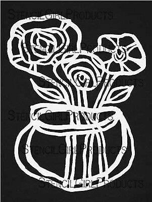 NEW Stencil Girl Products, Stencil, L406, Spring Flower Vase