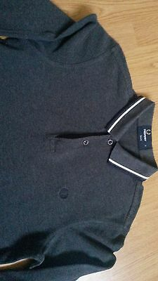 Grey Fred Perry long sleeve polo, Small Slim Fit