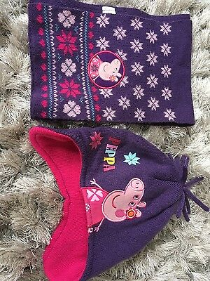 peppa pig hat and scarf