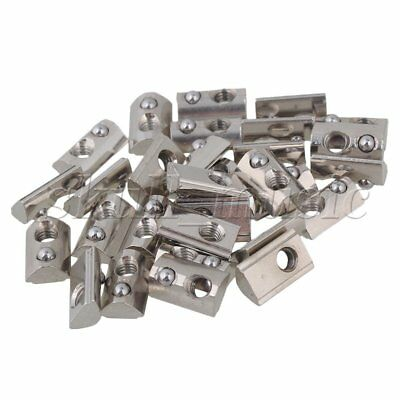 30x BQLZR Roll In T Spring Nut M4 for 20 Series European Aluminum Slot