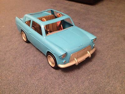 Rare Harry Potter Ron Weasley's Ford Anglia Blue Flying Car Mattel 2001