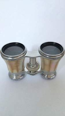"""Antique French Opera Glasses With Leather Case - Made by """"Dolland Paris"""""""