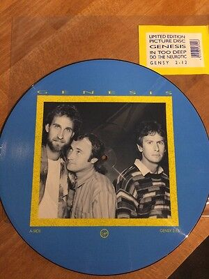 Genesis In Too Deep Limited Edition Picture Disc