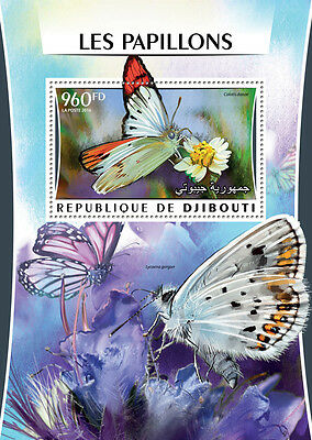 Djibouti 2016 MNH Butterflies 1v S/S Papillons Insects Butterfly Stamps