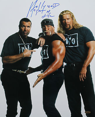 "2002 WWF nWo HULK HOGAN SIGNED 16x20 PHOTO ""HOLLYWOOD HOGAN 4 LIFE"" TRISTAR"