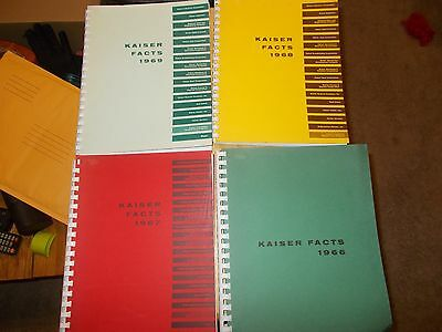 Kaiser Industies Company Fact  Books  1958-1962, 1964, 19666-1969 USED 9 TOTAL