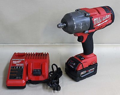 """Used, Milwaukee M18 2763-20, 18v 1/2"""" square ring impact wrench."""