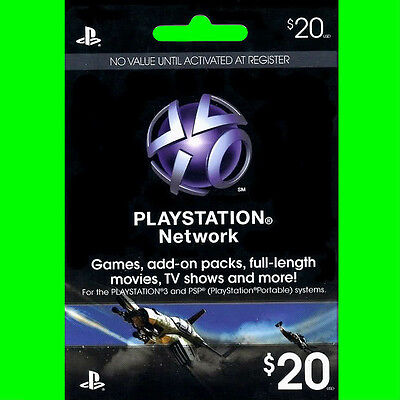 $20 US PlayStation Network Store PSN Gift Card for PS4, PS3, PS VITA, PSP -FAST!